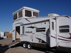 Outback deck side
