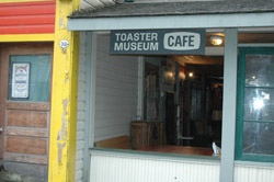 Toaster Museum sign