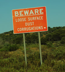 Signs- dust corrugations