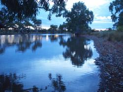 OBT 5a Eringa Waterhole sunset