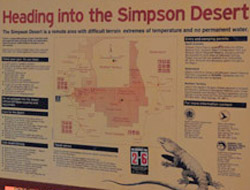 OBT 6 Simpson Desert sign