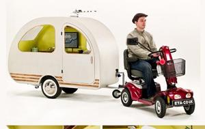 Scooter powered caravan