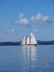 I E scenes schooner-clouds