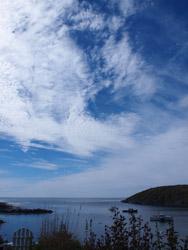 Monhegan scenes skies