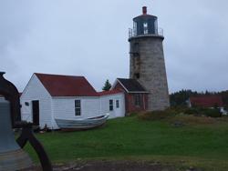 Monhegan  scenes lighthouse