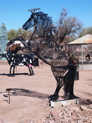 Tubac wire horse