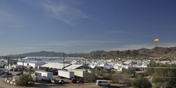 Q RV tent from bridge