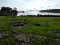 Colonial Pemaquid village ruins