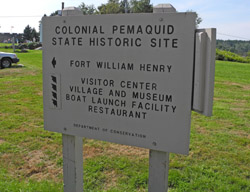 Colonial Pemaquid sign