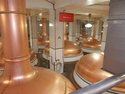 Coors Brewery brew kettles