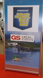 DEN RV show sign
