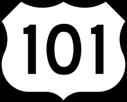 HWY 101 sign