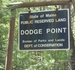 Hiking Dodge Pt sign