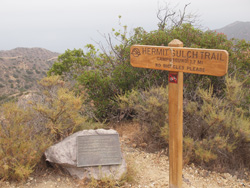 Catalina_Hermit Gulch trail sign