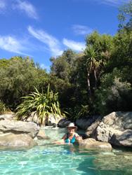 Hanmer Hot Springs J rock pool